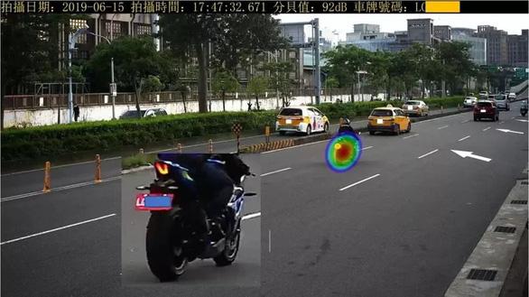 Đài Loan lắp camera âm thanh phạt người lái xe ồn ào - Ảnh 1.