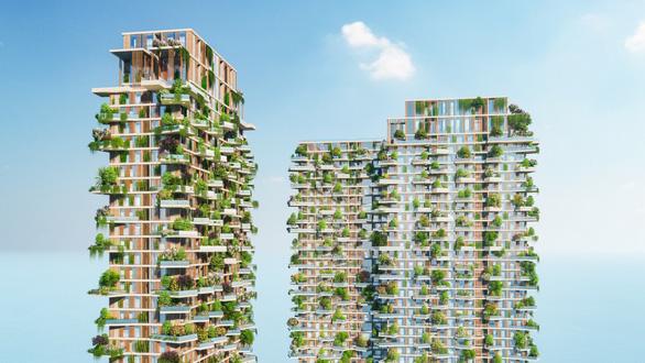 Tòa tháp xanh tại Ecopark lên báo Singapore - Ảnh 3.