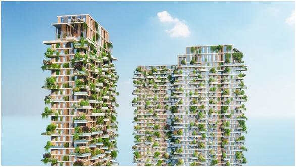 Hàng loạt báo quốc tế viết về toà tháp xanh Ecopark - Ảnh 2.