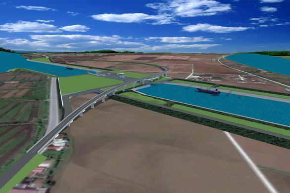 Động thổ cụm công trình giúp tàu 3.000 tấn vào sông Đáy - Ảnh 1.