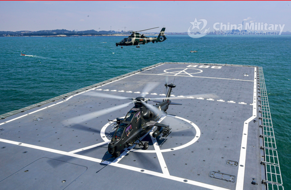 Bộ Ngoại giao: Tập trận của Trung Quốc không ở vùng biển Việt Nam - Ảnh 1.