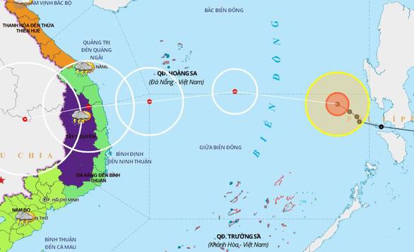 Bão số 10 giảm cấp, sẽ suy yếu thành áp thấp nhiệt đới khi vào bờ - Ảnh 1.