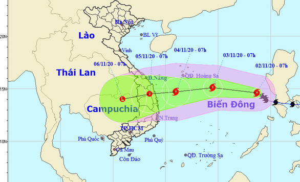 Bão số 10 giảm cấp, sẽ suy yếu thành áp thấp nhiệt đới khi vào bờ - Ảnh 2.