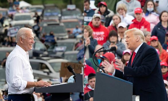 Hai ông Trump, Biden làm gì trong ngày cuối trước bầu cử? - Ảnh 1.