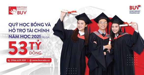 Trường Đại học Anh Quốc Việt Nam nâng quỹ học bổng lên 53 tỉ đồng - Ảnh 1.