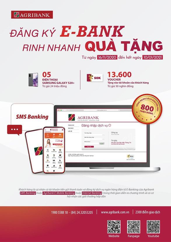 Khuyến mãi hấp dẫn tại Agribank khi đăng ký E-Bank - Ảnh 1.