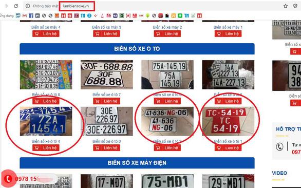 Loạn rao bán biển số giả trên mạng - Ảnh 1.