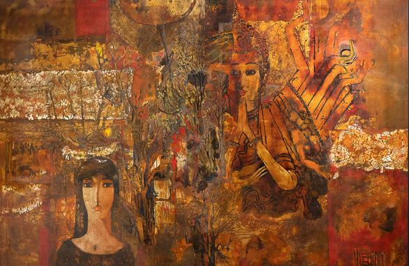 Cuộc hội ngộ đặc biệt của ba họa sĩ tuổi U80 - Ảnh 8.