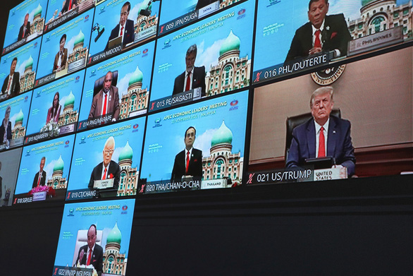 Ông Trump bất ngờ phát biểu tại diễn đàn APEC trực tuyến - Ảnh 1.