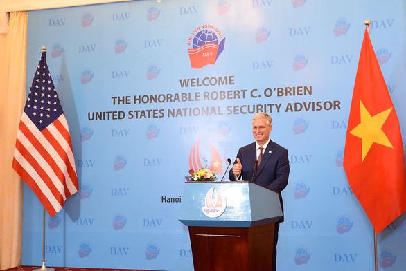 Cố vấn an ninh Mỹ O'Brien: Mỹ và Việt Nam tôn vinh những giá trị giống nhau - Ảnh 1.