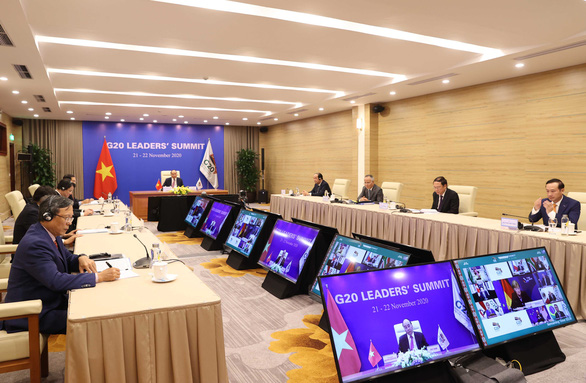 Thủ tướng Nguyễn Xuân Phúc kêu gọi các nước đoàn kết vượt qua COVID-19 tại G20 - Ảnh 2.