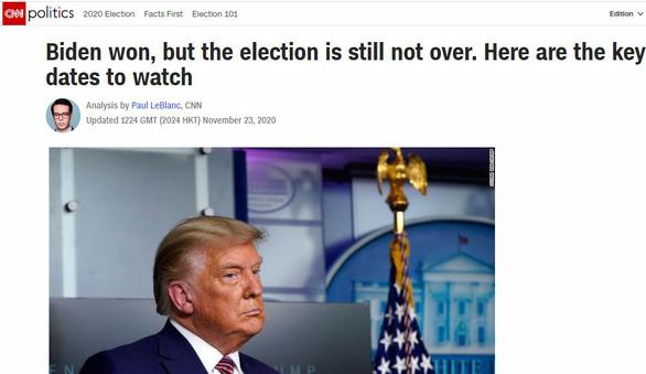 Đài CNN: Ông Biden thắng, nhưng cuộc bầu cử vẫn chưa kết thúc - Ảnh 1.