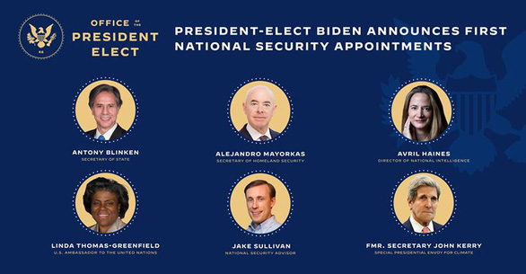 Nội các dự kiến của ông Biden có những người tầm cỡ nào? - Ảnh 1.