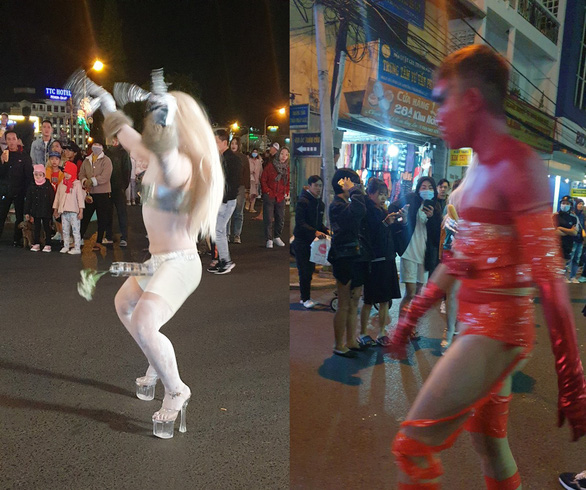 Offensive performance on Da Lat pedestrian street, fined 3.2 million VND - Photo 2.