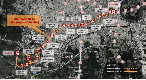 Tuyến metro 3A giai đoạn 1 bổ sung ga tại Khu y tế kỹ thuật cao - Ảnh 1.
