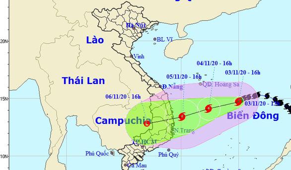 Ảnh hưởng bão số 10, biển Quảng Nam - Ninh Thuận gió mạnh lên từ tối nay - Ảnh 1.