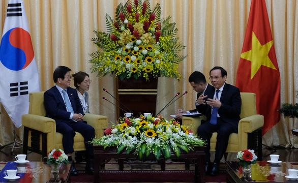 Chủ tịch Quốc hội Hàn Quốc mong thúc đẩy hợp tác với TP.HCM - Ảnh 1.