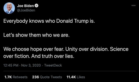 Trump và Biden không ngủ, đấu nhau tới hơn 2h sáng trên Twitter - Ảnh 3.