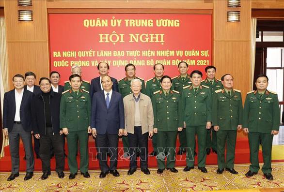 Tổng bí thư, Chủ tịch nước Nguyễn Phú Trọng chủ trì Hội nghị của Quân ủy trung ương - Ảnh 4.