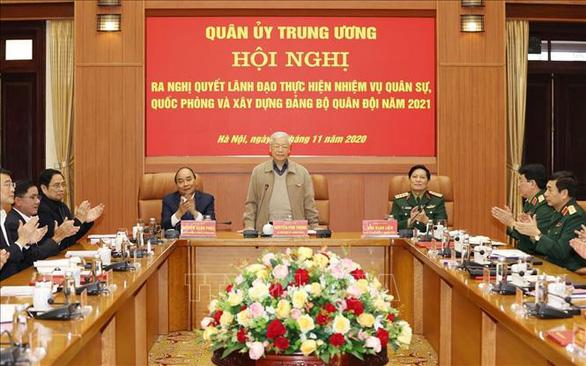 Tổng bí thư, Chủ tịch nước Nguyễn Phú Trọng chủ trì Hội nghị của Quân ủy trung ương - Ảnh 3.