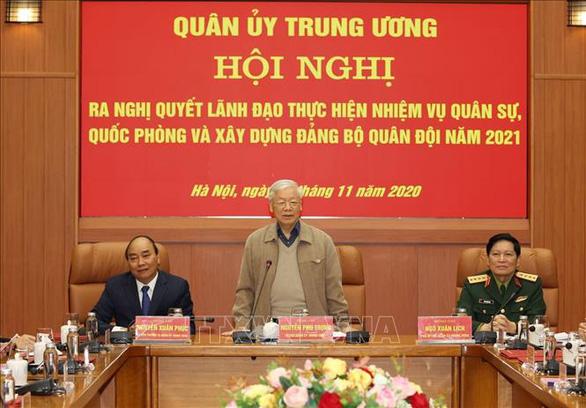 Tổng bí thư, Chủ tịch nước Nguyễn Phú Trọng chủ trì Hội nghị của Quân ủy trung ương - Ảnh 2.