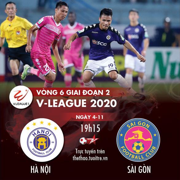 Lịch trực tiếp V-League 2020: CLB Hà Nội quyết đấu Sài Gòn - Ảnh 1.