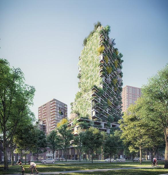 Ecopark xây dựng tháp xanh cao nhất thế giới - Ảnh 2.