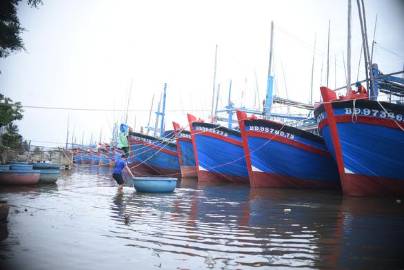 Bình Định: Tất cả tàu thuyền đã an toàn, đang sơ tán dân khỏi vùng nguy hiểm - Ảnh 1.