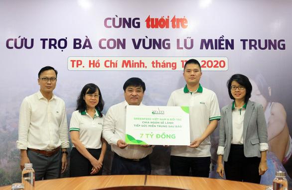 GREENFEED và đối tác ủng hộ 7 tỉ đồng cho đồng bào vùng bão lũ miền Trung - Ảnh 2.