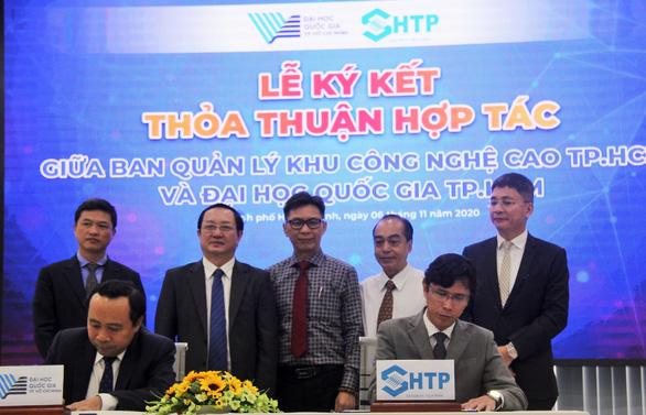 ĐH Quốc gia TP.HCM hợp tác Khu công nghệ cao xây khu đô thị sáng tạo - Ảnh 1.