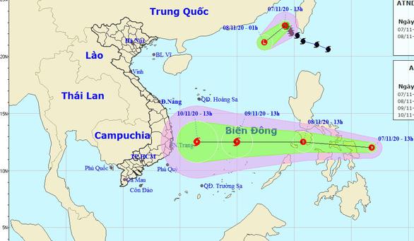 Bão số 11 vừa suy yếu, Biển Đông lại đón áp thấp có thể thành bão số 12 - Ảnh 1.