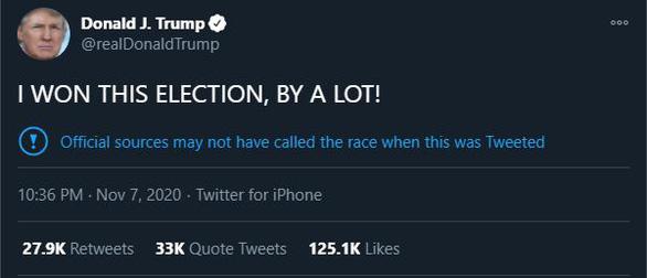 Ông Trump lần nữa tuyên bố thắng đậm - Ảnh 2.