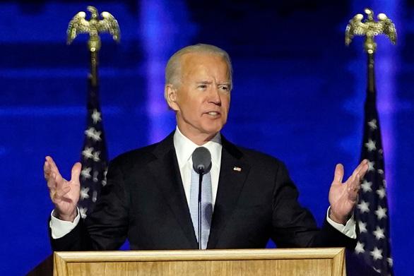 Ông Joe Biden phát biểu về chiến thắng: Đã đến lúc hàn gắn nước Mỹ - Ảnh 1.