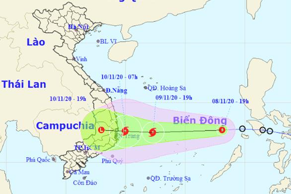 Ngày mai 9-11, áp thấp nhiệt đới có thể mạnh lên thành bão - Ảnh 1.