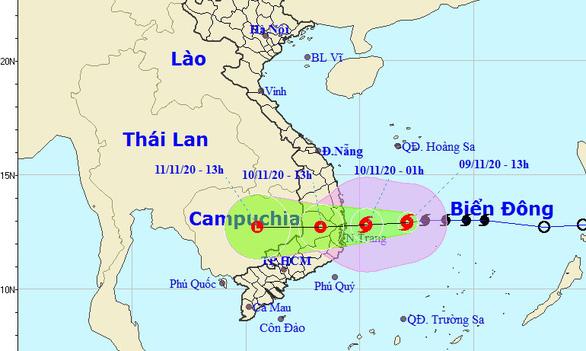 Bão số 12 mạnh lên, lao nhanh về phía Bình Định - Ninh Thuận - Ảnh 1.
