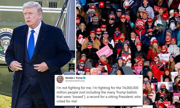 Ông Trump: Tôi đang chiến đấu vì 74 triệu người cùng những cử tri bị vứt phiếu đi - Ảnh 1.