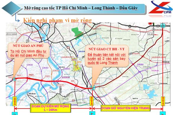 Trình Bộ GTVT phương án mở rộng gấp đôi cao tốc TP.HCM - Long Thành - Dầu Giây - Ảnh 2.