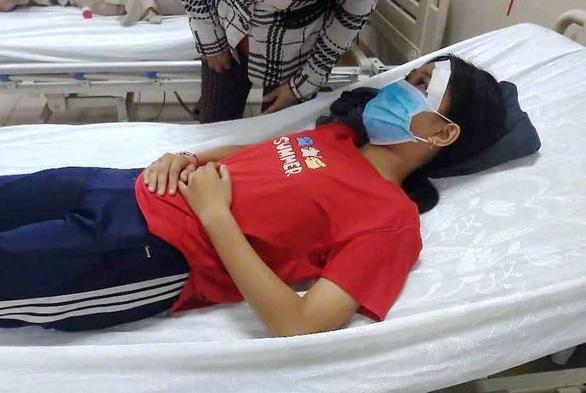 Nữ sinh bị đánh sau va quẹt giao thông ở Tây Ninh kịp đến trường dự thi - Ảnh 1.
