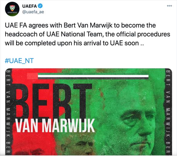 Bổ nhiệm lại Bert Van Marwijk, UAE có muốn dự World Cup không? - Ảnh 2.