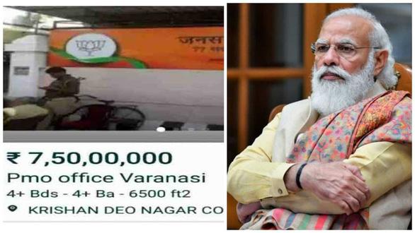 4 người Ấn Độ rao bán văn phòng của thủ tướng trên mạng - Ảnh 1.