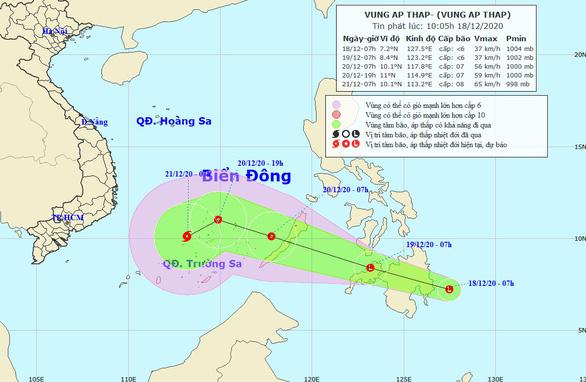 Biển Đông có thể bão trong 2-3 ngày tới - Ảnh 1.