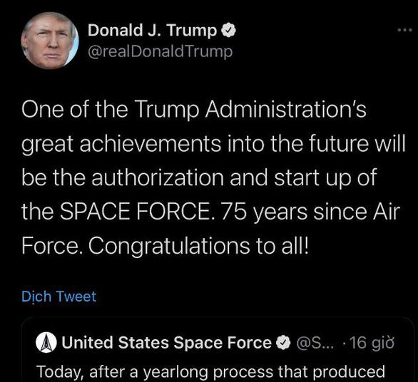 Ông Trump tự hào gọi việc thành lập Lực lượng Vũ trụ là thành tựu vĩ đại - Ảnh 1.