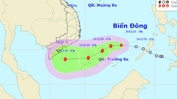 Áp thấp nhiệt đới có khả năng mạnh lên thành bão, diễn biến phức tạp - Ảnh 1.