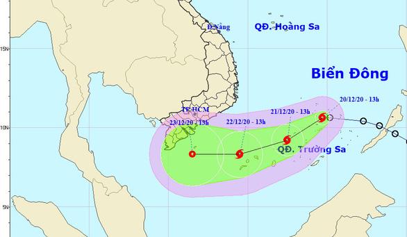 Áp thấp nhiệt đới đã mạnh lên thành bão số 14, còn tiếp tục mạnh hơn - Ảnh 1.