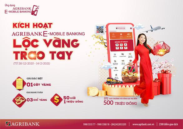 Cơ hội trúng 1 lượng vàng khi 'Kích hoạt Agribank E-Mobile Banking' - Ảnh 1.