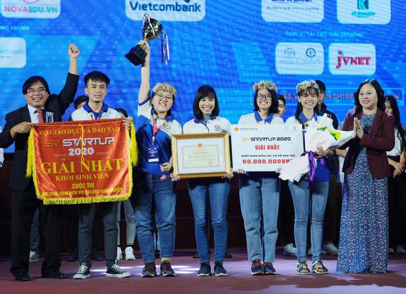 Trường ĐH Sư phạm kỹ thuật TP.HCM chiến thắng cuộc thi SV-STARTUP 2020 - Ảnh 1.