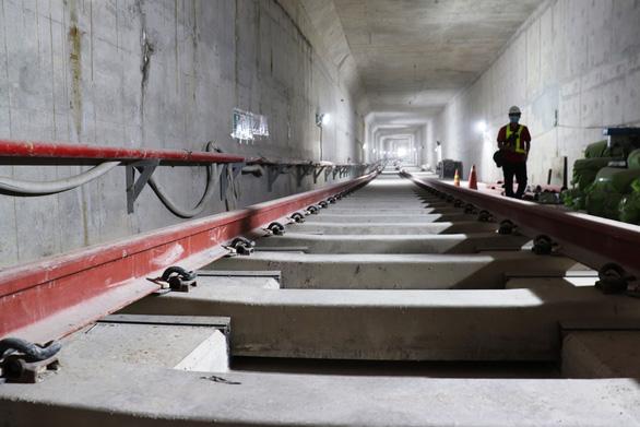 Nhà ga ngầm Ba Son tuyến metro số 1 đã làm xong - Ảnh 1.