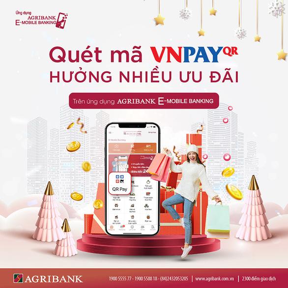 Quét VNPay QR nhận mưa ưu đãi cùng Agribank e-Mobile Banking - Ảnh 1.