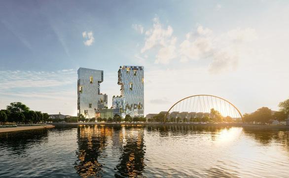 Ecopark xây tháp đôi cao nhất Hải Dương - Ảnh 1.