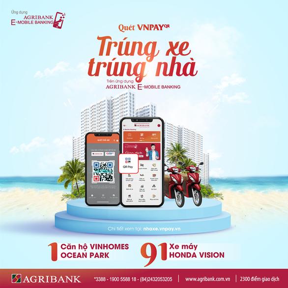 Quét VNPay QR nhận mưa ưu đãi cùng Agribank e-Mobile Banking - Ảnh 2.
